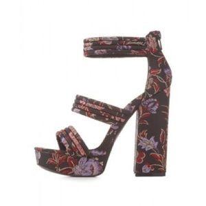 Charlotte Russe Alisha Platform Sandal Heels